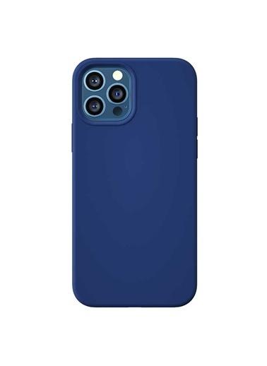 Benks Apple iPhone 12 Pro Kılıf Magsafe Magnetic Original Apple MFI Certified Silicon Case Mavi
